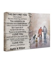 The Day I Met You DD010402MA Customize Name 24x16 Gallery Wrapped Canvas Prints front