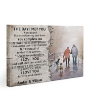 The Day I Met You DD010402MA Customize Name Gallery Wrapped Canvas Prints tile