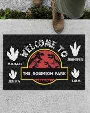 """The Robinson Park DD123108MA Customize Name Doormat 34"""" x 23"""" aos-doormat-34-x-23-lifestyle-front-01"""
