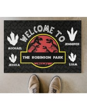 """The Robinson Park DD123108MA Customize Name Doormat 34"""" x 23"""" aos-doormat-34-x-23-lifestyle-front-04"""