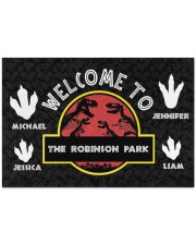 """The Robinson Park DD123108MA Customize Name Doormat 34"""" x 23"""" front"""
