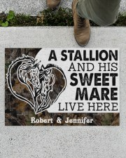 """Live Here DD010906NA Customize Name Doormat 34"""" x 23"""" aos-doormat-34-x-23-lifestyle-front-01"""