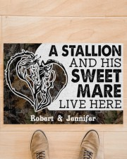 """Live Here DD010906NA Customize Name Doormat 34"""" x 23"""" aos-doormat-34-x-23-lifestyle-front-02"""