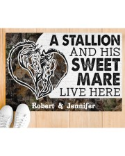 """Live Here DD010906NA Customize Name Doormat 34"""" x 23"""" aos-doormat-34-x-23-lifestyle-front-03"""