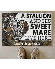 """Live Here DD010906NA Customize Name Doormat 34"""" x 23"""" aos-doormat-34-x-23-lifestyle-front-04"""