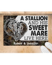 """Live Here DD010906NA Customize Name Doormat 34"""" x 23"""" aos-doormat-34-x-23-lifestyle-front-05"""