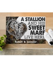 """Live Here DD010906NA Customize Name Doormat 34"""" x 23"""" aos-doormat-34-x-23-lifestyle-front-12"""