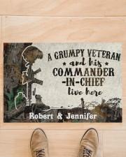 "A Grumpy Veteran DD010712NA Doormat 34"" x 23"" aos-doormat-34-x-23-lifestyle-front-02"