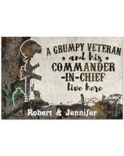 """A Grumpy Veteran DD010712NA Doormat 34"""" x 23"""" front"""
