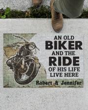 "An Old Biker DD010708NA Doormat 34"" x 23"" aos-doormat-34-x-23-lifestyle-front-01"
