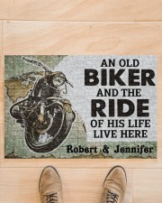 "An Old Biker DD010708NA Doormat 34"" x 23"" aos-doormat-34-x-23-lifestyle-front-02"