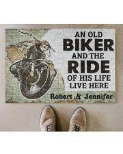 "An Old Biker DD010708NA Doormat 34"" x 23"" aos-doormat-34-x-23-lifestyle-front-04"