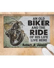 "An Old Biker DD010708NA Doormat 34"" x 23"" aos-doormat-34-x-23-lifestyle-front-05"