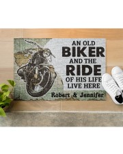 "An Old Biker DD010708NA Doormat 34"" x 23"" aos-doormat-34-x-23-lifestyle-front-12"