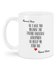 I Love You DD012507MA Customize Name Mug back