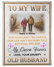 To My Wife DD011615MA Blanket Customize Name Fleece Blanket tile