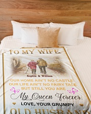 """To My Wife DD011615MA Blanket Customize Name Large Fleece Blanket - 60"""" x 80"""" aos-coral-fleece-blanket-60x80-lifestyle-front-02"""