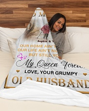 """To My Wife DD011615MA Blanket Customize Name Large Fleece Blanket - 60"""" x 80"""" aos-coral-fleece-blanket-60x80-lifestyle-front-03"""