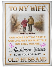 """To My Wife DD011615MA Blanket Customize Name Large Fleece Blanket - 60"""" x 80"""" front"""