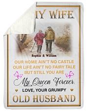 To My Wife DD011615MA Blanket Customize Name Sherpa Fleece Blanket tile