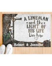 "A Lineman DD010713NA Customize Name Doormat 34"" x 23"" aos-doormat-34-x-23-lifestyle-front-03"