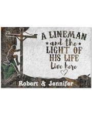 """A Lineman DD010713NA Customize Name Doormat 34"""" x 23"""" front"""