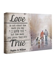 True Love DD010401MA Customize Name 24x16 Gallery Wrapped Canvas Prints front