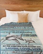 "Grandparent Grandchild shark blanket Large Fleece Blanket - 60"" x 80"" aos-coral-fleece-blanket-60x80-lifestyle-front-02"
