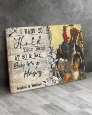 Horsing Customize Name 24x16 Gallery Wrapped Canvas Prints aos-canvas-pgw-24x16-lifestyle-front-02