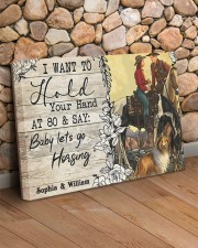 Horsing Customize Name 24x16 Gallery Wrapped Canvas Prints aos-canvas-pgw-24x16-lifestyle-front-12
