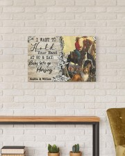 Horsing Customize Name 24x16 Gallery Wrapped Canvas Prints aos-canvas-pgw-24x16-lifestyle-front-17
