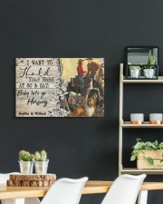Horsing Customize Name 24x16 Gallery Wrapped Canvas Prints aos-canvas-pgw-24x16-lifestyle-front-19