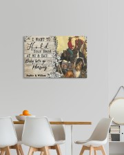 Horsing Customize Name 24x16 Gallery Wrapped Canvas Prints aos-canvas-pgw-24x16-lifestyle-front-20