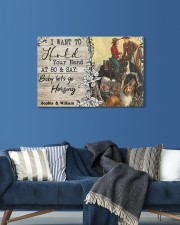 Horsing Customize Name 24x16 Gallery Wrapped Canvas Prints aos-canvas-pgw-24x16-lifestyle-front-21