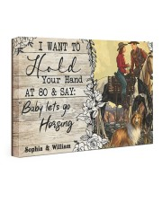 Horsing Customize Name 24x16 Gallery Wrapped Canvas Prints front