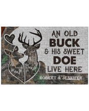 """Live Here Customize Name Doormat 22.5"""" x 15""""  front"""