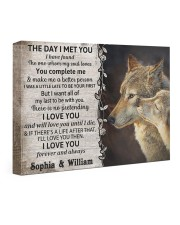 The Day I Met You DD123102MA Customize Name 24x16 Gallery Wrapped Canvas Prints front