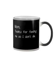 Children Mother Thanks Mug Personalize Color Changing Mug tile