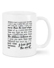 I Love You The Most DD010505MA Customize Name Mug front