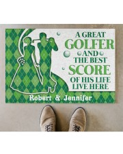 """A Great Golfer DD010824NA Customize Name Doormat 34"""" x 23"""" aos-doormat-34-x-23-lifestyle-front-04"""
