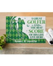 """A Great Golfer DD010824NA Customize Name Doormat 34"""" x 23"""" aos-doormat-34-x-23-lifestyle-front-12"""