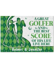 """A Great Golfer DD010824NA Customize Name Doormat 34"""" x 23"""" front"""