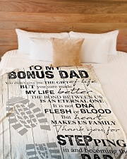 "To my bonus dad Large Fleece Blanket - 60"" x 80"" aos-coral-fleece-blanket-60x80-lifestyle-front-02"