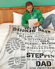 "To my bonus dad Large Fleece Blanket - 60"" x 80"" aos-coral-fleece-blanket-60x80-lifestyle-front-06"