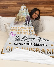 """To My Wife DD011616MA Blanket Customize Name Large Fleece Blanket - 60"""" x 80"""" aos-coral-fleece-blanket-60x80-lifestyle-front-03"""