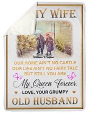 To My Wife DD011616MA Blanket Customize Name Sherpa Fleece Blanket tile