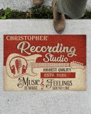 "Recording Studio DD010718NA Customize Name Doormat 34"" x 23"" aos-doormat-34-x-23-lifestyle-front-01"