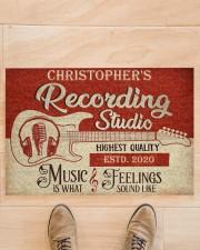"Recording Studio DD010718NA Customize Name Doormat 34"" x 23"" aos-doormat-34-x-23-lifestyle-front-02"