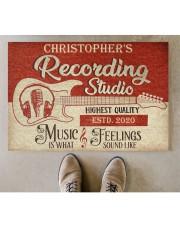 "Recording Studio DD010718NA Customize Name Doormat 34"" x 23"" aos-doormat-34-x-23-lifestyle-front-04"