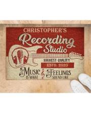 "Recording Studio DD010718NA Customize Name Doormat 34"" x 23"" aos-doormat-34-x-23-lifestyle-front-05"